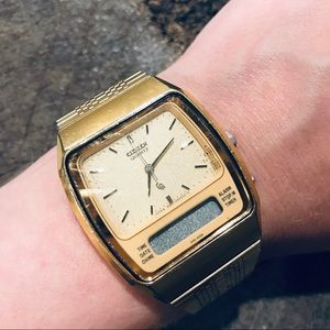 Citizen vintage gold tone watch